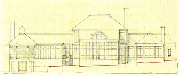 residential rear elevation