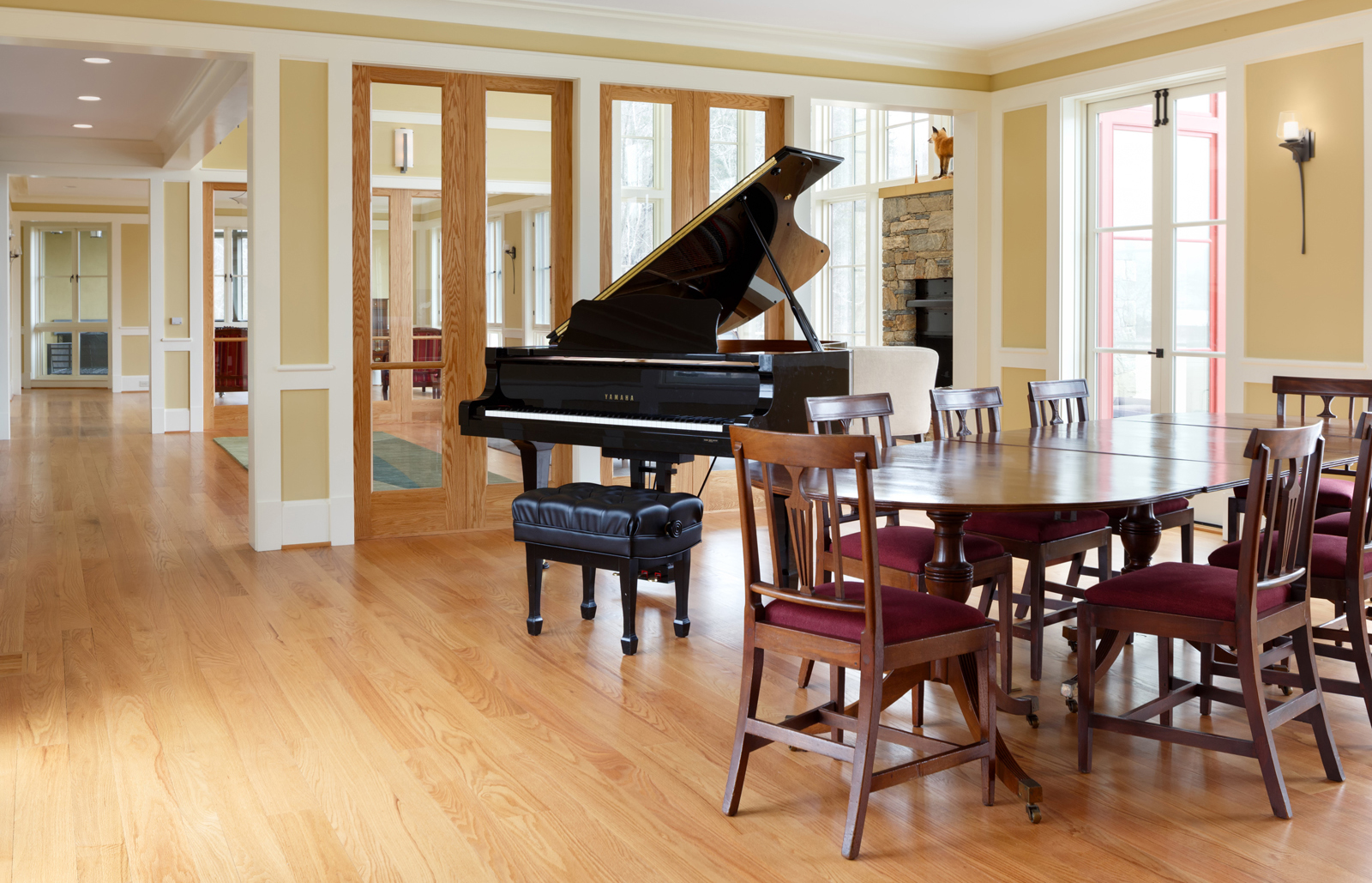 Music Room extends off the Great Room