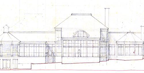 residential rear elevation