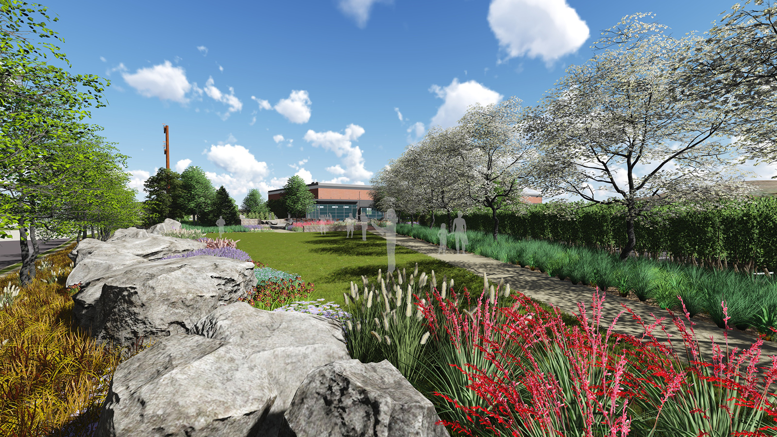 Healing Garden rendering in 20 years